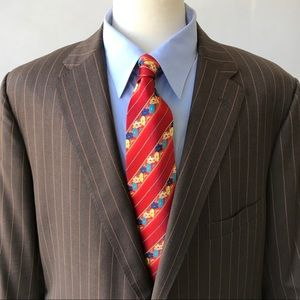 Holland & Sherry 3-Piece Suit. Brown, Gold